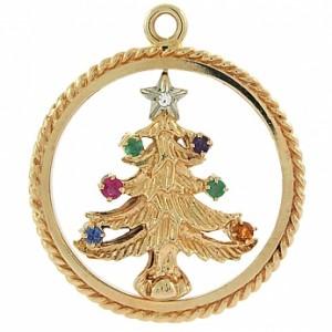 Vintage Tiffany and Company Acrostic Christmas Tree Charm