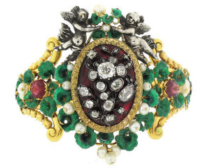 Incredible Antique Victorian Diamond and Gemstone Bracelet