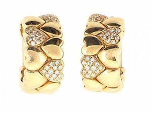 Cartier Diamond Heart Earrings