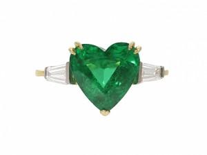 Asprey and Garrard Emerald and Diamond Ring