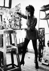 Marguerite Stix in her Studio 1956