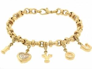 Chopard Happy Diamonds I Love You Charm Bracelet