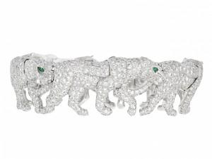 Cartier Diamond Walking Panther Bracelet