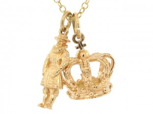 Vintage Crown Jewels Charm Pendants