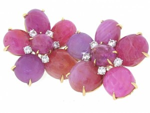 Eclat Pink Sapphire and Diamond Earrings