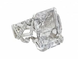 Chanel Rutilated Quartz and Diamond Cristaux Glaces Ring