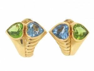 Bvlgari Peridot and Blue Topaz Earrings