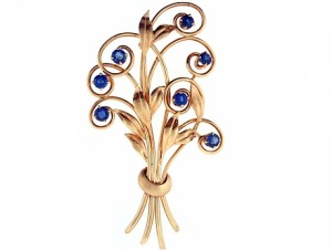 TIffany and Co Montana Sapphire Bouquet Brooch
