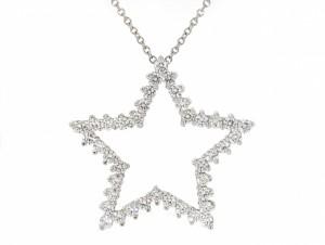 Tiffany Diamond Star Pendant