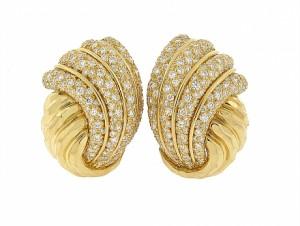 Henry Dunay Diamond Facets Earrings