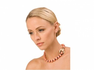 Van Cleef and Arpels Coral, Onyx and Diamond Necklace in 18K