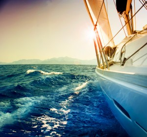 Yacht on the sea - shutterstock