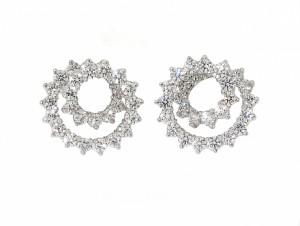 Tiffany and Co. Diamond Swirl Earrings in Platinum