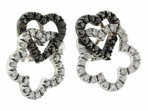Black and White Diamond Earrings in 18K