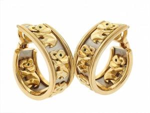 Cartier Walking Elephant Earrings
