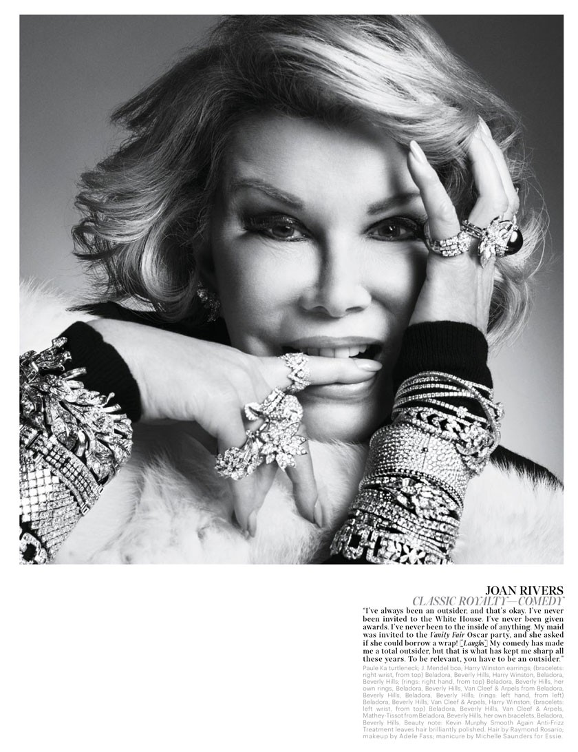 Joan Rivers' Sparkling Life — W Magazine