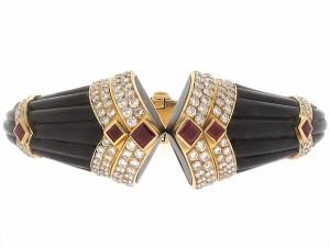 Boucheron Bracelet with Diamonds and Rubies