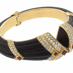 Boucheron Bracelet with Diamonds and Rubies